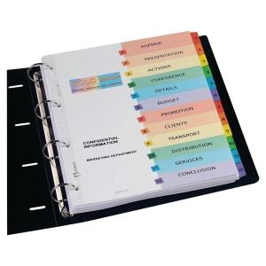 Índice numérico 1-12 imprimivel A4 papel Mylar 190 g/m2 AVERY