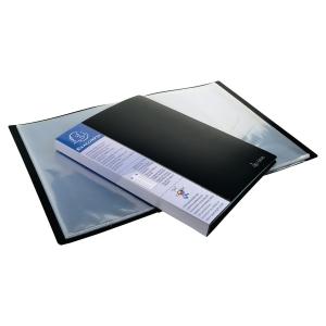Exacompta 88801E reliure de présentation A4 80 pochettes noire