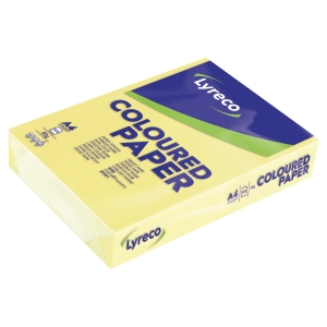 Lyreco Pastel Tinted Yellow A4 Paper 80 gsm - Pack of 1 Ream (500 Sheets)