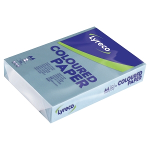Lyreco Pastel Tinted Blue A4 Paper 80 gsm - Pack of 1 Ream (500 Sheets)