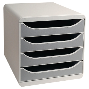 Module de classement Exacompta Big Box - 4 tiroirs - gris