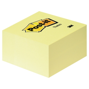 Cubo de 450 notas adhesivas Post-it color amarillo Dimensiones 76x76mm