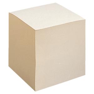 Notizklotz Lyreco, Maße: 90x90x 90mm, geleimt, Recycling, 1000 Blatt