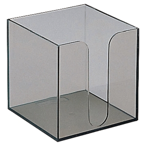 Cube dévidoir vide 100x100 mm transparent