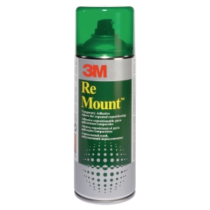 COLLE EN AEROSOL REPOSITIONNABLE REMOUNT 3M 400 ML
