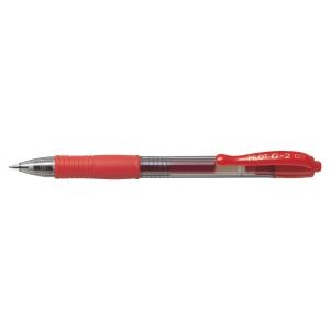 Roller retrátil de tinta gel PILOT G-2 cor vermelha