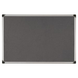 ALUMINIUM FRAMED FABRIC NOTICE BOARD 600MM X 900MM - GREY