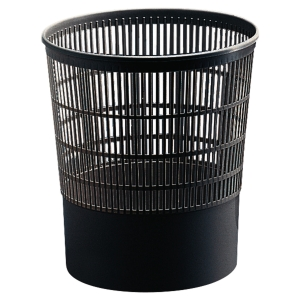 Corbeille a papier polypropylene souple first by Cep cylindrique 16 l noir