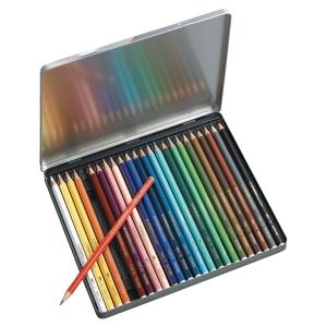 Crayon de couleur Stabilo Aquacolor - coloris assortis - boîte de 24