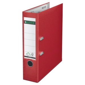 LEITZ 180 RED A4 POLYPROPYLENE LEVER ARCH FILE 80MM