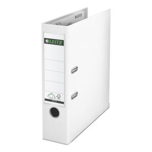Ordner Leitz 1010, PP-kaschiert, A4, Rückenbreite 80mm, weiß