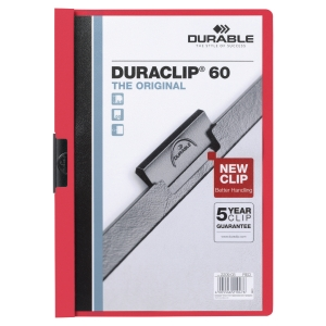 Durable 2209 Duraclip Folder A4 Red