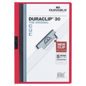 Klemmhefter Duraclip, A4, Füllhöhe 3 mm, rot