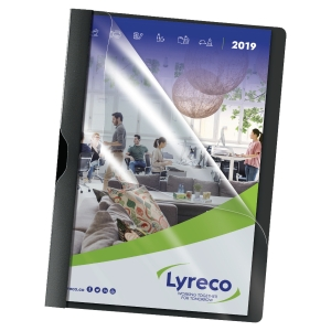 LYRECO BLACK A4 CLIP FILES 30 SHEET CAPACITY - PACK OF 5
