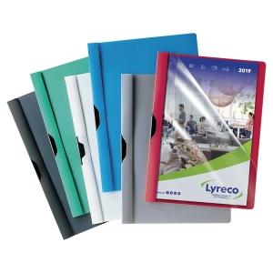 Pack de 25 dossiers de polipropileno flexible con contraportada colores surtidos