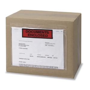 Zelfklevende paklijsthoesjes 240x115mm bedrukt - doos van 1000