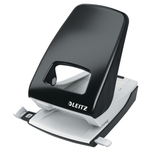 Leitz 5138 heavy 2-hole punch steel black 40 sheets