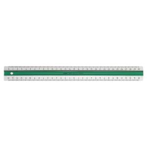 Präzisionsmaßstab Bantex Linex 30cm grün/weiß