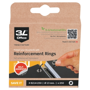 3L zelfklevende reinforcement rings transparent - box of 500