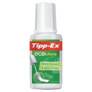 CORRECTEUR A PINCEAU TIPP-EX ECOLUTIONS 20ML APPLICATEUR MOUSSE FAIBLE ODEUR