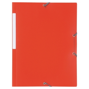 LYRECO POLYPROPYLENE RED A4/FOOLSCAP 3-FLAP FILES WITH ELASTIC