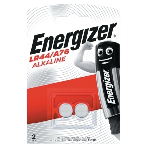 ENERGIZER LR44 ALKALINE BUTTON BATTERY 1.5V PACK OF 2
