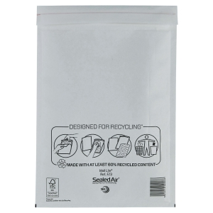 Mail Lite White Postal Bags 220 X 330mm (8 3/5 X 13Inch) - Box of 50