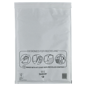 Mail Lite White Postal Bags 300 X 440mm (11 3/4 X 17Inch) - Box of 50