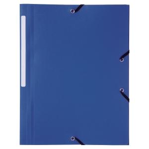 Eckspanner Lyreco, A4, aus PP, blau