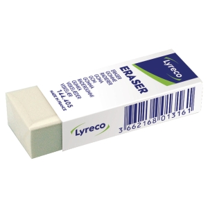 LYRECO MULTI-PURPOSE ERASER IN CARDBOARD SLEEVE