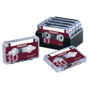 PHILIPS MINI DICTATION CASSETTES - 30 MINUTE CAPACITY - PACK OF 10