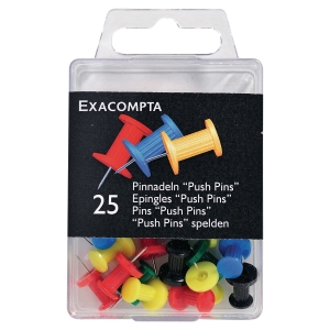 Drawing pins 14920 10mm assorti - box of 25