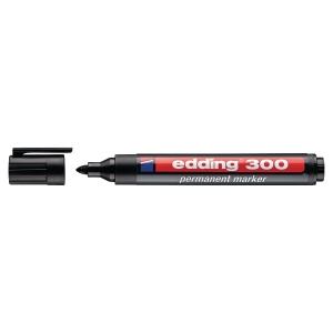 Pemanentný popisovač Edding 300, guľatý hrot, čierny