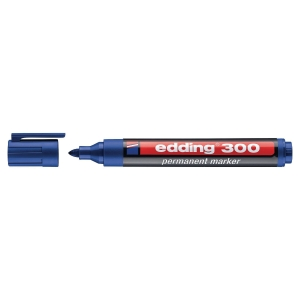 Permanentmarker edding 300, Rundspitze, Strichstärke: 1,5-3mm, blau