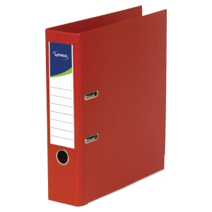 LYRECO POLYPROPYLENE RED A4 LEVER ARCH FILES - BOX OF 10