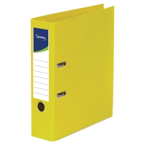 LYRECO POLYPROPYLENE YELLOW A4 LEVER ARCH FILES - BOX OF 10