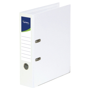 Lyreco Polypropylene White A4 Upright Lever Arch File - Box Of 10