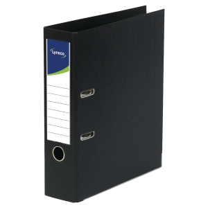Lyreco Polypropylene Black A4 Upright Lever Arch File - Box Of 10