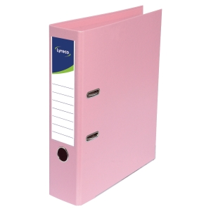 LYRECO LEVER ARCH FILE 80MM PINK