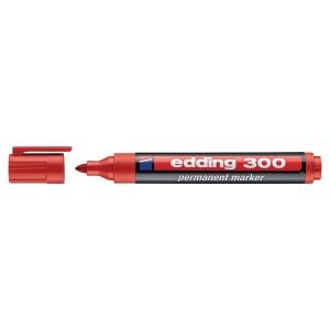 Permanent merkepenn Edding 300, rund spiss, rød