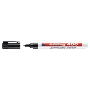 Permanent merkepenn Edding 400, rund spiss, 1 mm, sort