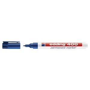 Permanent merkepenn Edding 400, rund spiss,  1 mm, blå