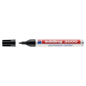 Marcador permanente EDDING 3000 color negro