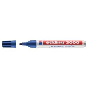 Edding 3000 permanente marker ronde punt 1,5 - 3mm blauw
