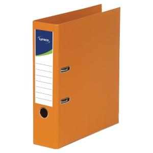 Pákový zakladač celoplastový Lyreco, šírka chrbta 5 cm, oranžový
