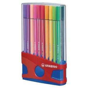 Stabilo Pen 68 filctoll, gömbölyű hegy, 20 vegyes szín