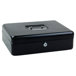 Cash box large 300x200x90mm black