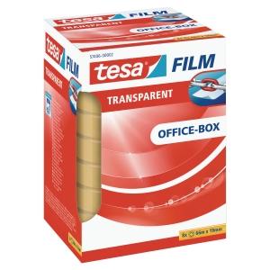 Tesa Office ruban adhésif transparent 19mmx66 m - boîte de 8