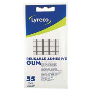 Lyreco sticky tack 50g - pack of 55