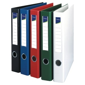 LYRECO WHITE A4 4D-RING BINDER 40MM CAPACITY